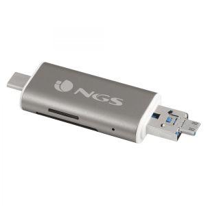 NGS ALLYREADER USB/Micro-USB Cinzento, Branco leitor de cartões