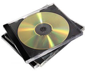 FELLOWES - PACK DE 10 CAIXAS CDS PRETO SUPL .