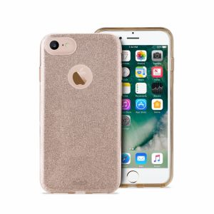 PURO - PC+TPU Shine Cover for iPhone 7 Gold