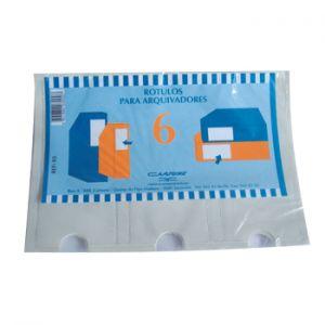 CARTUNE - Porta Etiqueta Transparente p / Dossiers pack 6un