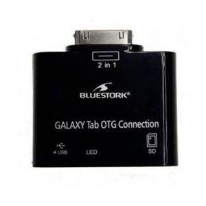 BLUESTORK - BS-GAL-RDR/SD SAMSUNG 30-PIN USB 2.0/SD CARD Preto  - BS-GAL-RDR/SD