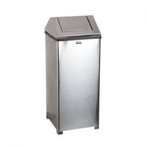 RUBBERMAID - Papeleira Metal Aco Inoxidavel 60 Litros