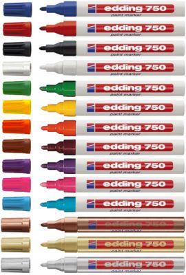 EDDING - Marcador Grosso Edding 750 Branco 1 unid