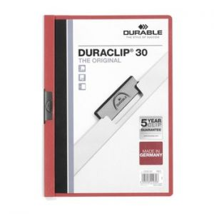 DURABLE - Classificador Clip Lateral Durable 2200 Bordeux - 1 un