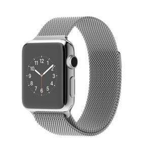 APPLE - Watch 38mm Stainless Steel Case with Milanese Loop