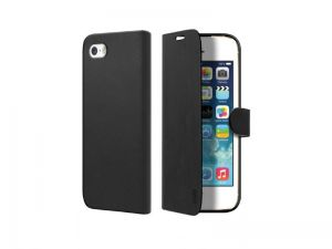 SBS - BOOK CASE WITH RIGID SUPPORT ACCS IPHONE SE/5S/ 5 BLACK