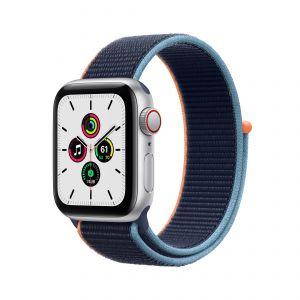 APPLE - Watch SE GPS + Cellular 40mm em Aluminio Prateado com Bracelete Loop Desportiva Azul Profundo