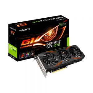 GIGABYTE - GV-N1070G1 GAMING-8GD NV GTX1070 GDDR5 8GB 256BIT DVI+HDMI+3DP WINDFORCE 3X
