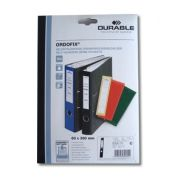 OFFICE - Porta Etiqueta Preto Durable p / Dossiers 60x390mm Pack 10 (809001)