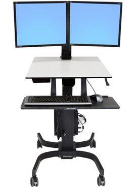 ERGOTRON - WorkFit-C Dual Sit-Stand Workstation