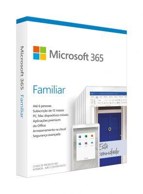Microsoft - 365 Family Português Subscrição de 1 ano p/ Mac/Win EuroZone Medialess P6