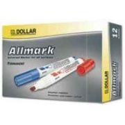 DOLLAR - Marcador Grosso 2:0mm Allmark UMS2 Azul Pack 12un