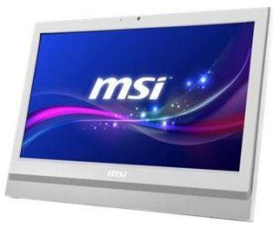 MSI - Pro 20T 6M-015XEU - Intel  G4400, 3.3GHz, 20 LED panel LED Backlight HD (1600x900) (Anti-Flicker), Multi-Touch(o) Anti-Glare, Intel HD Graphics 510, 4GB DDR4, 1TB, DVD/RW SM, Gigabit, 802.11 AC, 2 x 3W speakers, Non-OS - Branco