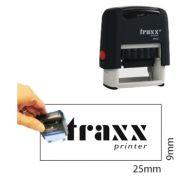 TRAXX - Carimbo Traxx Autotintavel Mod 9010 9x25mm Corpo Cinza