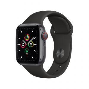 APPLE - Watch SE GPS + Cellular 40mm em Aluminio Cinzento Sideral com Bracelete Desportiva Preta