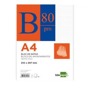 LIDERPAPEL - Recarga Papel A4 Pautado 60gr 80 Folhas 1un (min. 6 un.)