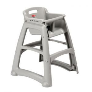 RUBBERMAID - Cadeira Bebe Sturdy c/Pes (Nao inclui Bandeja) Cinza