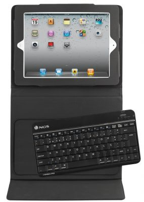 NGS - Bluetooth Keyboard Scissor Key + Rubber Case For Ipad