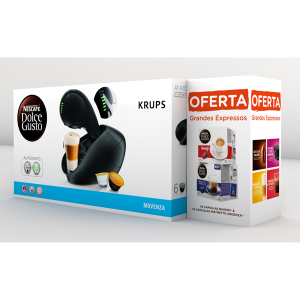 KRUPS - MAQUINA CAFE DOLCE GUSTO 15BAR MOVENZA PRETO PACK
