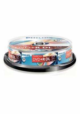 PHILIPS - DVD+R 8,5GB DUAL LAYER 8x SP (10)