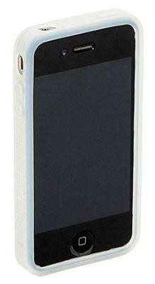 HITEC - Capa protetora silicone iPhone 4 branca