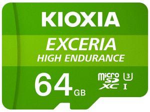 KIOXIA - MICRO SD 64GB EXCERIA HIGH ENDURANCE UHS-I C10 R98 COM ADAPTADOR