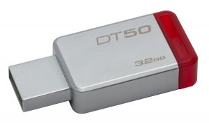 KINGSTON - DataTraveler 50 32gb USB 3.0 Metal/Red