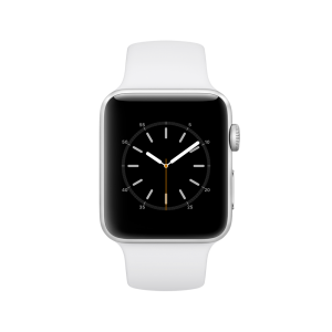 APPLE - Watch Series 2: 42mm Silver Aluminium Case with White Sport Band