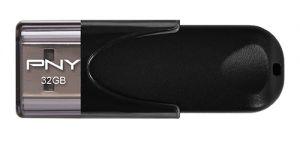 PNY - USB DRIVE - ATTACHE 4.0 USB 2.0 32GB MEM WRITE 8MB/S READ 25 MB/S