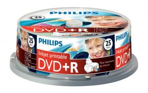 PHILIPS - DVD+R 4,7GB 16x Printable mate Cakebox (25 unidades)