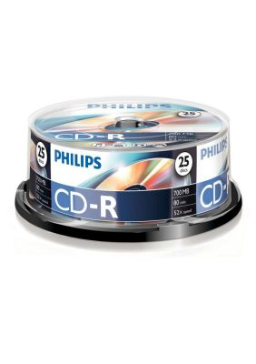 PHILIPS - CD-R 80Min 700MB 52x Cakebox (25 unidades)