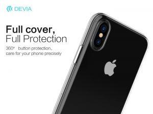 DEVIA - Capa Silicone Transparente para iPhone X