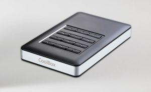 COOLBOX - CAIXA P/ DISCO EXTERNO ALUMINIO 2.5P USB 3.0 C/ENCRIPTAÇAO HARDWARE 256BIT AES