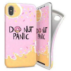 I-PAINT - SOFT CASE IPHONE X (DONUT PANIC)