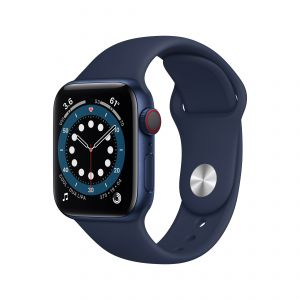 APPLE - Watch Series 6 GPS + Cellular 40mm em Aluminio Azul com Bracelete Desportiva Azul Profundo