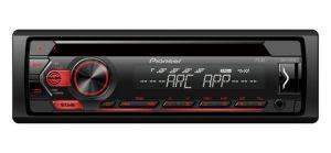 PIONEER - AUTO RADIO DEHS120UB  RDS CD USB ENTRADA AUX ILUMINAÇÃO VERMELHA