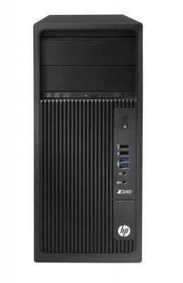 HP - Workstation HP Z240 - Intel Core i7-7700K, Memória SDRAM DDR4-2400 não ECC registada de 8GB (2x4GB), SATA 1TB 7200 rpm, Placa gráfica Intel HD 630, Windows 10 Pro 64