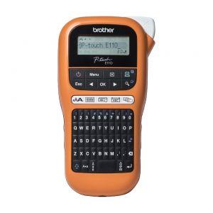 BROTHER - PTE110VP - Rotuladora Eletrónica portátil profissional ideal para eletricistas e instaladores, Larguras de fita: 3,5 / 6 / 9 / 12mm