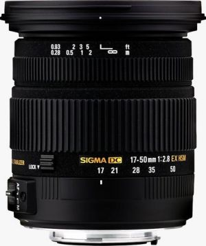 SIGMA - Objectiva 17-50mm 2.8 EX DC OS HSM EOS