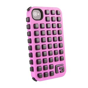 G-FORM - iPhone Square - Pink Shell / Black RPT - CP2IP4011E