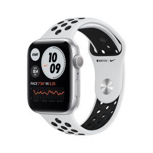 APPLE - Watch Nike Series 6 GPS 44mm Prateado com Bracelete Desportiva Nike Platina Pura/Preto - Regular