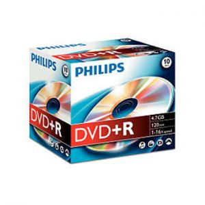 PHILIPS - DVD+R Philips 4.7GB 16X Jewell Case 10