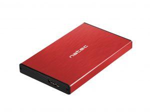 NATEC - CAIXA EXTERNA PARA DISCO RHINO GO 2,5P USB 3.0 SATA VERMELHA