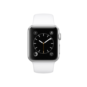 APPLE - Watch Series 1: 38mm Silver Aluminium Case with White Sport Band