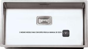RODI - CUBA ESCOVADA - BOX LUX 74 C/ VÁLVULA CESTA-G08N1AM10723A0
