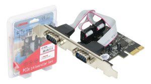 LONGSHINE - PCI–E 2 portas série RS–232 low profile