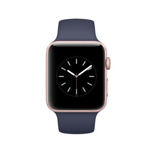 APPLE - Watch Series 2: 42mm Rose Gold Aluminium Case with Midnight Blue Sport Band