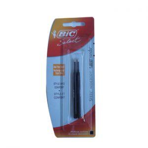 BIC - Recarga Esfer. BIC Select Preto (Steel / Widebody / Rondo) 2un