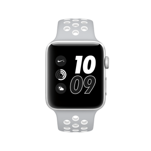 APPLE - Watch Nike+: 42mm Silver Aluminium Case with Flat Silver/White Nike Sport Band