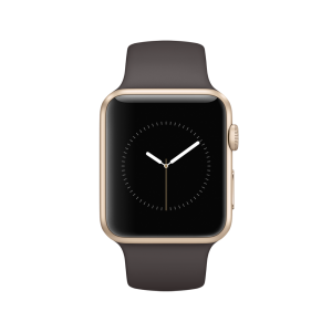 APPLE - Watch Series 1: 42mm Gold Aluminium Case with Cocoa Sport Band